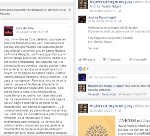Comentario en FB Mujeres de Negro
