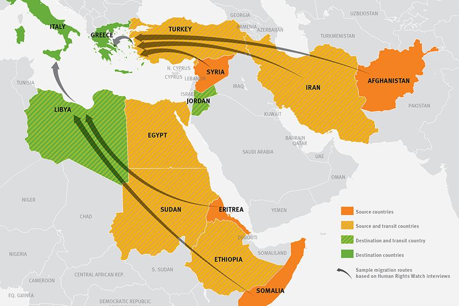"""Los """"refugiados sirios"""" no vienen de siria sino de múltiples países de medio oriente, varios de los cuales no tienen conflictos armados."""