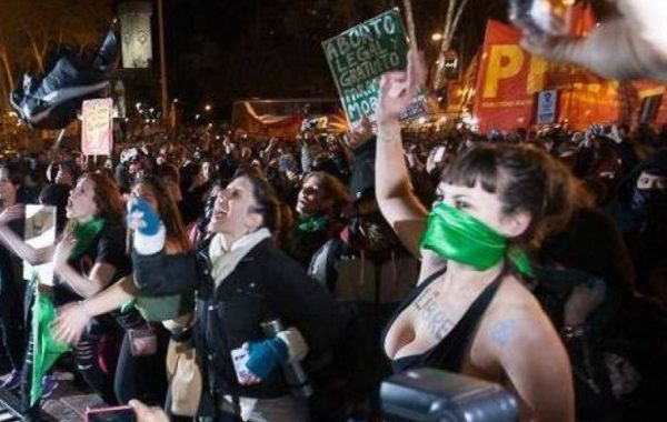Feministas en Rosario, Argentina.