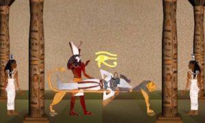 Horus revive a su padre Osiris