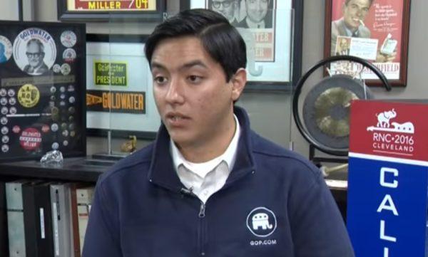 Josh Recalde-Martinez, representante del grupo de jóvenes republicanos de la universidad