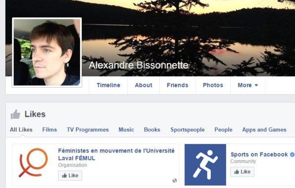 Alexandre Bissonnette Feminist
