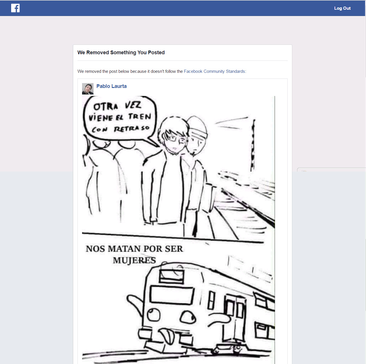 Censura Facebook Varones Unidos