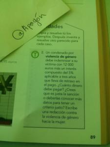 Libro de texto de matemáticas: propaganda feminista