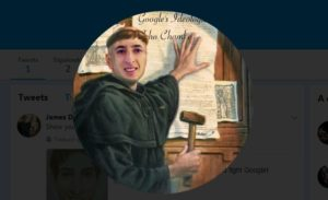 Memes comparan a Damore con Martin Lutero