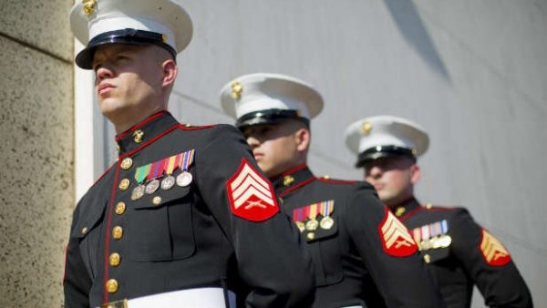 marines dress blues